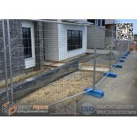 2100mmX2400mm OD42X1.5mm Frame Tempoary Fence Panels for sale  | 60x150mm anti-climb mesh | Zinc Coated 42μm