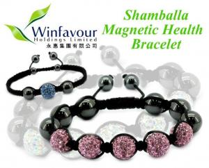 China Shamballa magnetic hematite bracelet on sale