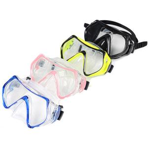 China Silicone Adult Diving Mask , Scuba Diving Equipment With Waterproof Tempered Glass Lens on sale