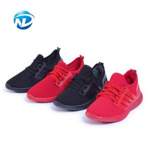China Light Weight Sports Shoes Lace-up Mesh Fabric Shoes For Ladies on sale