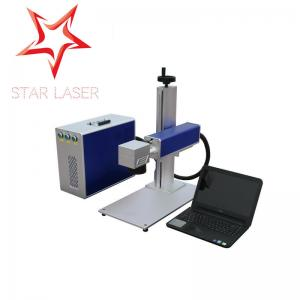 China Mobile Phone Charger Fiber Laser Metal Engraving Marking Machine For Nameplate on sale