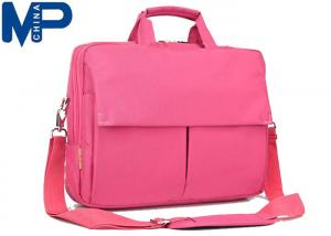 China Pink 12'' Nylon Shoulder Stylish Ladies Laptop Carry Bags Briefcase for Notebook iPad on sale