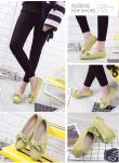 Single shoes female 2017 new factory direct women's round flat pea shoes women's leisure shallow mouth shoes