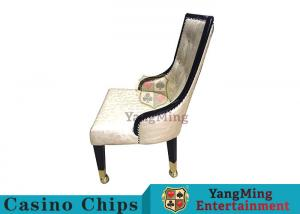 China Anti - Corrosion Baccarat Casino Leather Chair With Castors Can Customized on sale