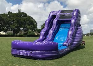 China Funny Outdoor Inflatable Water Slide Custom Logo Strong Stucture CE Certification on sale