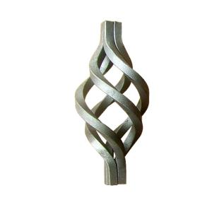 China Forged Wrought Iron Components , Ornamental Iron Parts Scrolls Cages / Baskets on sale