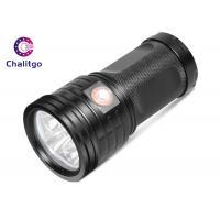 China T6 Hunting High Lumen Flashlight , Rechargeable LED Flashlight Black Outdoor on sale