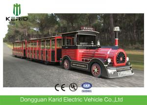China 42 Seater Mini Trackless Train With Metal Structure Beam 76 KW Rated Power Petrol Engine on sale