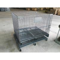 Lockable Steel Wire Containers Half Drop Gate Industrial Metal Wire Baskets