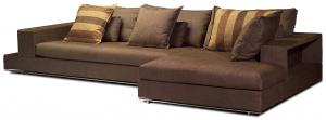 China OEM Double Luxury Brown Fabric Modern Sofa Sleepers Sets with Chaise on sale