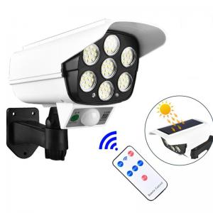 China 77pcs LED 1000lm Motion Activated Solar Powered Led Security Light With Camera on sale