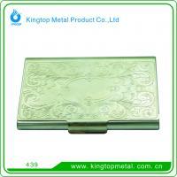 Fancy rectangle  shape  metal business card holder