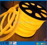 le rond jaune de la bobine 12V de 25M 360 degrés a mené le câble au néon pour la pièce
