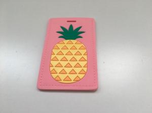 China Pink Color Silicone Molded Rubber Parts , Special Fashion Luggage Tags For Girls on sale