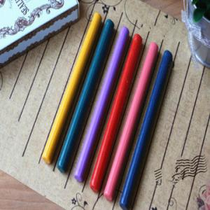 China 20 colors Retro Sealing Wax Glue Gun Wax Sticks for Wax Seal Stamp 6pcs on sale