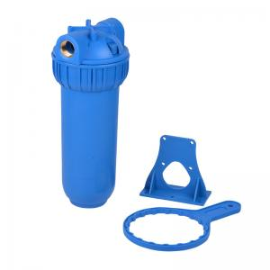 China Blue Color Water Filter Housing With Bracket / Wrench High Reliability on sale
