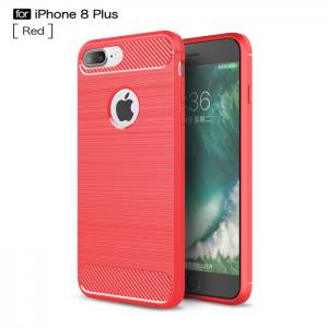 China Red Anti Drop TPU Cell Phone Case Used For Iphone 8 Plus Hybrid Dual Layer Design on sale