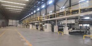 China WJ300-2500-5ply corrugated cardboard production line From China Hebei Dpack on sale