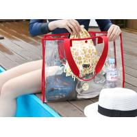 Woman Transparent PVC Bag Shoulder Handle Type For Outdoor Activities
