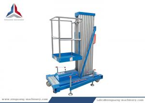 China 10m Platform Height Single Mast Hydraulic Aluminum Lift Table on sale
