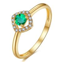 Colombian Emerald Diamond Ring Solid 18 Carat Gold For Women Gifts