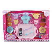 23 Pcs Plastic Cookies Tea Set Fun Toys For Kids W / Big Plate Spoons Cups