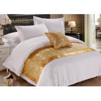 Custom Printed Polyester Canvas Gold Bed Runner / Burlap Table Runner