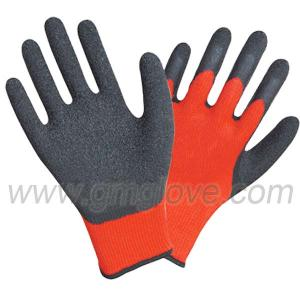 China Latex Palm & Thumb Dipped Hand Gloves, Cotton String on sale