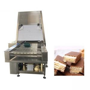 China 400mm 200kg/H Protein Chocolate Enrobing Machine on sale