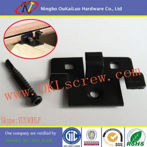 China Black Oxide Stainless Steel Hidden Deck Fasteners on sale