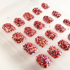 China Nice Artificial Nail Art Fingernails For children , 3D Glitter Fake Nails on sale