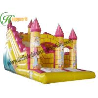 Garden Yellow Inflatable Castle Bouncy Slide , Outdoor Inflatable Toys