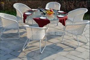 China Contemporary Garden Patio Furniture Dining Sets , Metal Patio Table And Chairs on sale
