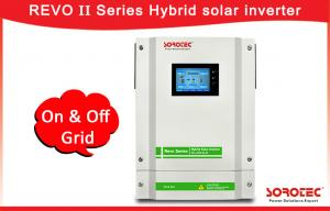 China Touch screen Solar On Grid Off Grid Hybrid Inverter with 120-450VDC MPPT Range on sale