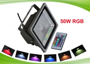 China Outdoor RF Colorful Led Projector Light , 50watt RGB Led Floodlight Decoration Lighting on sale