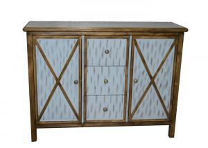 China Antique Commercial Hotel Quality Furniture Wood Lobby Consoles With Three Drawers on sale