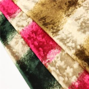 China Professional Crushed Velour Fabric Home Textile Striped Velvet Fabric on sale