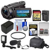 Sony Handycam FDR-AX33 Wi-Fi 4K Ultra HD Video Camera Camcorder Kit
