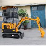 Mini Crawler Digger Excavator 1.0kg Farm Machine with different inplements with canopy