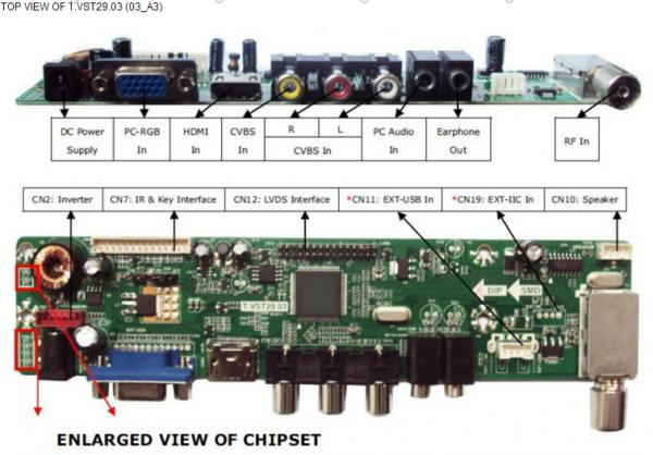 factory sale lcd led tv drive board tv control board tv circuit