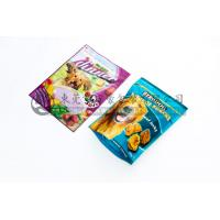Custom Reclosable Ziplock Stand Up Pouch Bags , Standing Dog Food Bag With Zipper