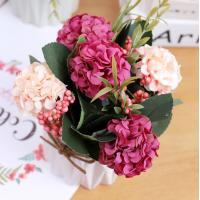 China Low price Simulation flowers hydrangea potted plants home decorations fake flowers silk flowers wedding photog on sale