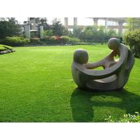 China metal abstract nude mother and baby lying outdoor sculpture on sale