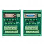 D Sub 15 Pin Single End DB15 Connectors Terminal Block Breakout Board DIN Rail Led Indicator