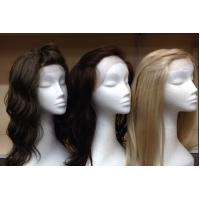 Indian Original 100% Lace Front Human Hair Wigs With Bleached Knots