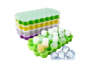China Food Safety , Multi-Cavities, Honeycomb Shape , Silicone Ice Cube Tray , FDA / LFGB Grade on sale