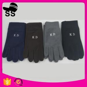 China 2017 wholesale on stock winter Plain Style 11*24cm 66g 100%polyester single layer women lady quick warm fleece glove on sale