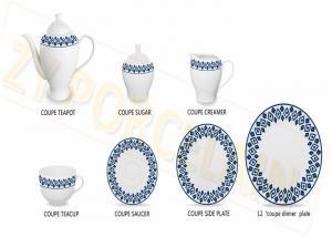 China 24 Piece Eco - Friendly Ceramic Tea Set With Newest Series Design on sale