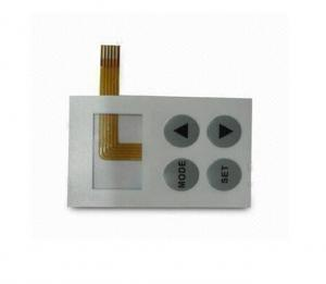 China Electrical Conductivity PET / PC Membrane Switch Panels With FPC Foil on sale