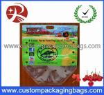 Sacs en plastique clairs de tirette de glisseur d'emballage de fruit, Apple/sac de raisin